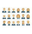business people set of simple icons for ypur vector image