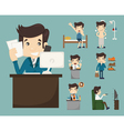 Businessman routine eps10 format vector image vector image