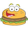 Cartoon hamburger vector image vector image
