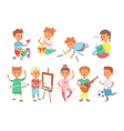 Children playing tug of war at the park vector image vector image