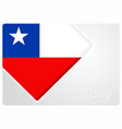 chilean flag design background vector image vector image