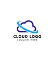 cloud tech logo design template icon vector image