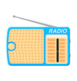 colorful cartoon radio vector image