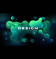 colorful geometric background design fluid shapes vector image vector image