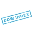 Dow Index Rubber Stamp vector image