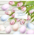 Easter eggs card EPS 10 vector image vector image