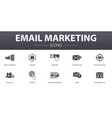 email marketing simple concept icons set contains vector image