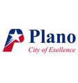 flag plano in texas usa vector image vector image