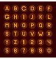 Flat Style Red Gamma Alphabet and Numbers Icons vector image vector image
