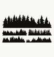 forest silhouettes vintage collection vector image