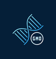 genetically modified organism dna colored vector image vector image