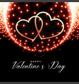 glowing hearts valentines day background vector image vector image