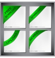 Green corner ribbon vector | Price: 1 Credit (USD $1)