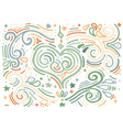 Hand drawn vintage print with decorative heart vector image vector image
