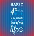happy 4th july card vector image vector image