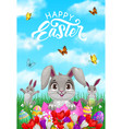 happy easter celebration greeting card vector image