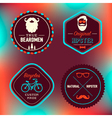 Hipster Badges Set vector image vector image