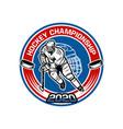 hockey championship 2020 badge template vector image