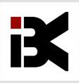ibk bk bik initials letter company logo vector image vector image