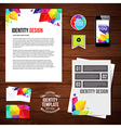 Identity design for Your business geometric style vector image vector image
