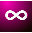 Infinity Symbol on Pink Background vector image vector image