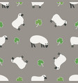 irish shamrock clovers sheep pattern vector image