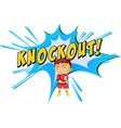 Knockout punch vector image