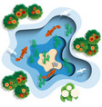 lake in which fish swim vector image vector image