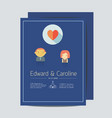minimal wedding invitation card template vector image