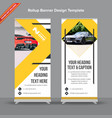 modern rollup banner in yellow and grey vector image vector image