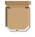 open empty cardboard pizza box vector image
