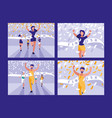 people athletics race avatar character vector image