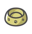 pet food bowl icon cartoon vector image