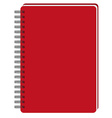 Red notebook vector image vector image