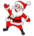 Santa clause cartoon waving hand vector image vector image