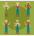 set farmers vector image vector image