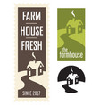 set of farmhouse logos vector image vector image