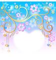 Spring gentle floral easter frame vector image