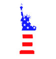 statue liberty with flag united states of vector image vector image