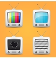 television icons set vector image vector image