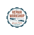 Vintage label design Repair workshop emblem in vector image vector image