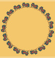 vintage round frame with red apples vector image vector image