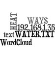ways to heat your water text word cloud concept vector image vector image