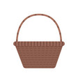 wicker basket icon in flat design vector image