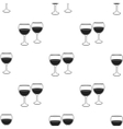 Wine glasses icon in black style isolated on white vector image vector image