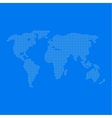World map of dots vector image