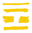 yellow highlighter marker vector image