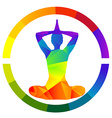 Yoga icon isolated over white background vector image vector image