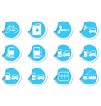 Set of stickers transport BLUE LABEL vector image