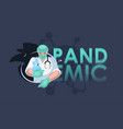 a doctor in a protective mask heroic work a vector image